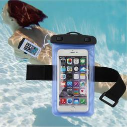 Waterproof Pouch Case With Arm Band ABS Swimming Diving Anti