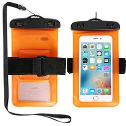 """7.0"""" Waterproof Pouch Phone Dry Bag Case with Arm Band & Lan"""
