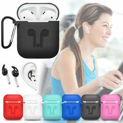 Waterproof Silicone Case + Strap + EarHook For Apple AirPods
