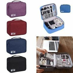 Waterproof Travel Storage Bag USB Charger Case Data Cable El