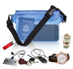 Waterproof Waist Pouch by Hydro Gizmos -Large Travel Bag wit