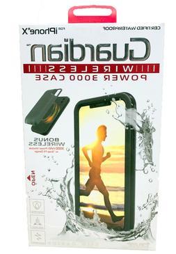 Guardian Waterproof + Wireless Power 3000 Slim iPhone X Prot