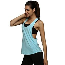 Orangeskycn Women Summer Loose Gym Sport Vest Training Run